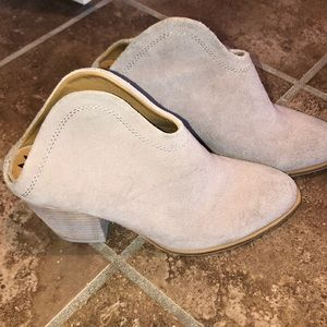Backless booties! Sz 8 cream color